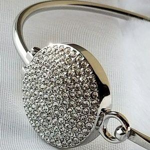 Michael Kors Silver & Pave Crystal Bracelet